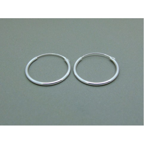 Sterling Silver Light 18mm Plain Hoops