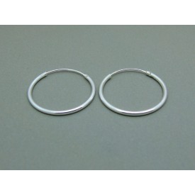 Sterling Silver Light 20mm Plain Hoops