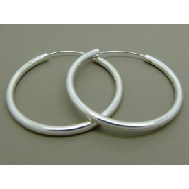 Sterling Silver Heavy Hoops 40mm