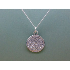 Sterling Silver Celtic Disc Pendant