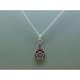 Sterling Silver Flower Drop Pendant