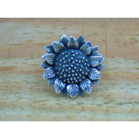 Sterling Silver Large Sunflower Ring