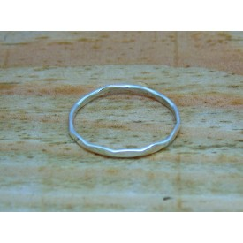 Sterling Silver Faceted Stacking Ring
