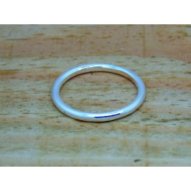 Sterling Silver Plain Halo Ring