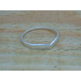 Sterling Silver Wishbone Ring 1.5mm