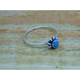 Sterling Silver Stone Set Flower Ring
