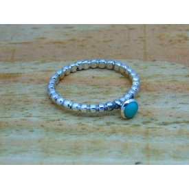 Sterling Silver Turquoise Stacking Ring
