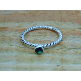Sterling Silver Twisted Paua Shell Ring