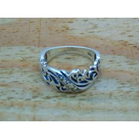 Sterling Silver Decorative Vine Ring