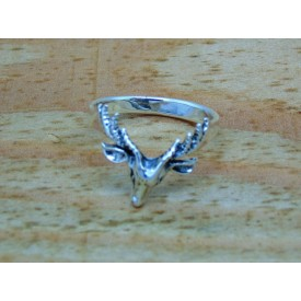 Sterling Silver Stag Ring