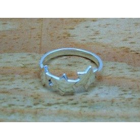 Sterling Silver Triple Star Ring