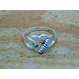 Sterling Silver Infinity and Heart Ring