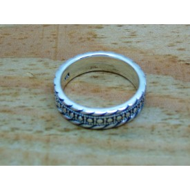Sterling Silver 5.5mm Decorative Ring