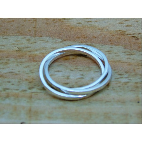 Sterling Silver Russian Wedding Ring Square Profile