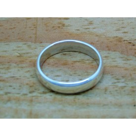 Sterling Silver Medium Weight Plain Ring