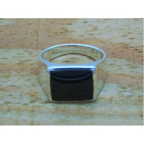 Sterling Silver Square Onyx Signet Ring