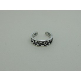 Sterling Silver Toe Ring - Planet and Star